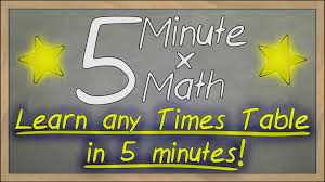 how to learn times tables in 5 minutes 5 minute math trailer youtube