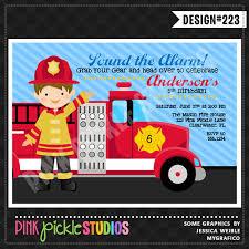 fire truck birthday party invitations cimvitation