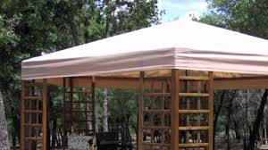 Replacement Canopy by Sams Club Wood Hexagon Gazebo Replacement Canopy Youtube