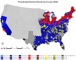 Usa Map 1860 by 1860 Us Presidential Election Of 1860 By County 1820 1860