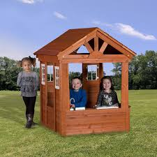 amazon com backyard discovery columbus all cedar wood playhouse