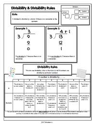 34 best divisibility rules images on pinterest divisibility