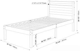 Bunk Bed Mattress Size Bronx Bed By Palace Imports Twin Mattress Dimensions Home