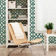 trellis wallpaper forest green peel and stick