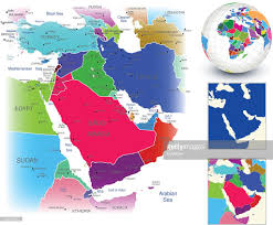 geography map vector map geography of middle east vector getty images