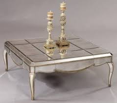 Mirrored Top Coffee Table Antiqued Mirrored Coffee Table Foter