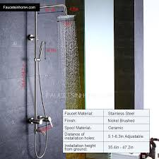 Outdoor Showers Fixtures - stainless steel outdoor shower heads and faucets