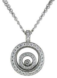 white necklace gold images Happy spirit chopard 18kt white gold necklace floating diamond jpg