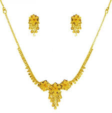 gold necklace earring sets images 22k gold necklace and earrings set ajns61720 us 1 120 22k jpg
