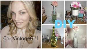 how to make a wine bottle l diy shabby chic wine bottles l chicvintagegirl youtube