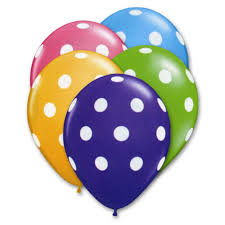 helium balloon delivery nyc tropical polka dots assorted colors 12 inch balloons bouquet