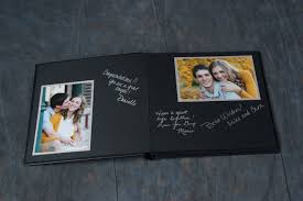 photo album black pages 10x10 guest book 10 page