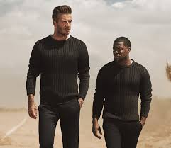 kevin hart kevin hart and david beckham are starring in h u0026m u0027s new ad campaign