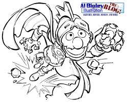 al bigley illustration the blog super grover sesame workshop
