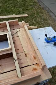 Wooden Patio Table Remodelaholic Build A Patio Table With Built In Boxes