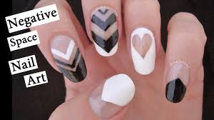 negative space nail art black u0026 white with nailed it nz youtube