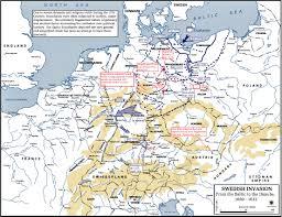 Bohemia Map Of The Thirty Years War Swedish Invasion 1630