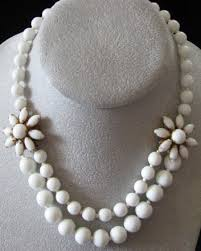 white beads necklace images Haskell white choker necklace jpg