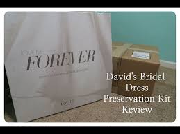 wedding dress cleaning and preservation david s bridal gown preservation kit review