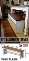 Simple Wood Bench Design Plans by Learn How To Build An Easy Diy Farmhouse Bench Perfect For
