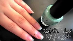 quick tip how to make your nail polish dry faster youtube