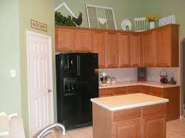 kitchen paint colors with oak cabinets and black appliances