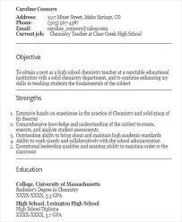 Resume For Fresher Teacher Job by 42 Teacher Resume Formats