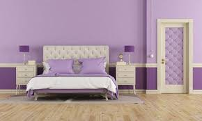 bedroom purple interior with relaxing bedroom paint color ideas