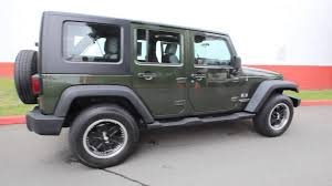 2007 green jeep wrangler 2007 jeep wrangler unlimited x forest green 7l231821 seattle