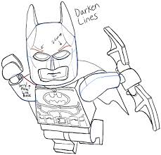 how to draw lego batman minifigure with easy step by step drawing