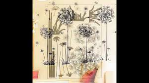 home decor wall art stickers creative dandelion wall art decal sticker removable mural pvc home