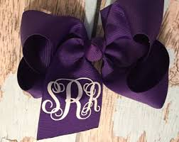 custom hair bows monogram hair bows etsy