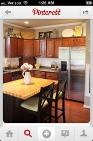 painting above kitchen cabinets 16 best decorating above kitchen cabinets images on pinterest