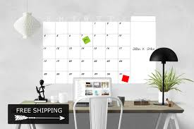 Whiteboard Wall Calendar 2018 Monthly Calendar Dry Erase