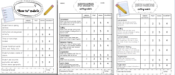 sarah u0027s first grade snippets writing rubrics for the primary grades