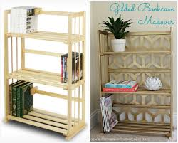 Bookshelves And Bookcases by Gilded Bookcase Makeover The Happier Homemaker