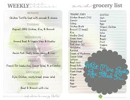 weekly family meal planner template weekly meal planner grocery list kristi clover weekly meal planner grocery list by raising clovers this handy dandy meal