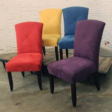 Set Of Four Dining Chairs Bold And Bright Ultra Suede Dining Chairs Set Of 4