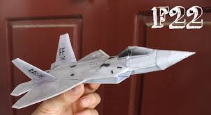 3d paper model airplanes print outs how to make an f 22 raptor paper plane that flies far youtube