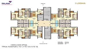 lodha central park palava city floor plan youtube