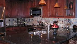kitchen paint colors with cherry cabinets white granite countertop