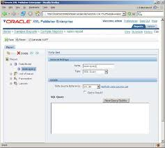 build an online reporting application using oracle xml publisher