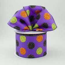 purple satin ribbon 2 5 purple satin ribbon with glitter polka dots lime green