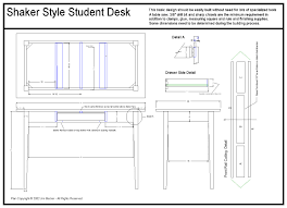 Desk Plans by Shaker Style Student Desk Archive Sawmill Creek Woodworking
