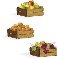 fruit boxes fruit box clip vector images illustrations istock