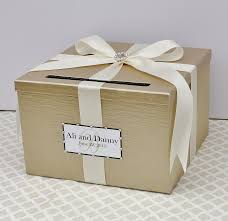 wedding gift boxes wedding card box chagne white lace card holder custom made