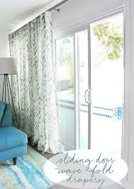 Curtains To Cover Sliding Glass Door Smith And Noble S Wave Fold Drapery System For Sliding Glass Doors