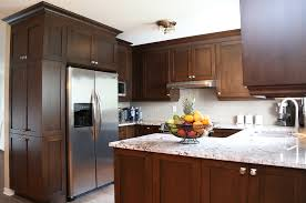 decor small kitchen refacing ideas with brown kitchen cabinets