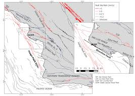 California Fault Map Earthquake Geology And Critical Facility Safety The Exemplary