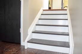 Stairs With Laminate Flooring Carpet To Wood Stair Makeover Garrison Street Design Studio